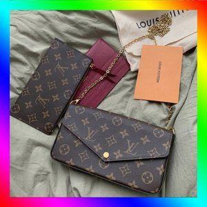 🌸Louis Vuitton🌸 LV Felicie Pochette Crossbody Bag Shoulder Bag Clutch Bag